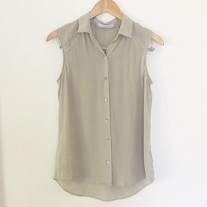 Everlane Silk Collared Blouse